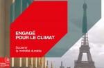Affiche de La Caisse des Dépôts engagée pour le climat avec la mobilité durable